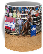 American Rodeo Female Barrel Racer White Blaze Chestnut Horse Iv Coffee Mug by Sally Rockefeller