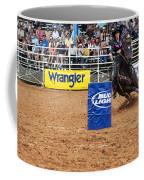 American Rodeo Female Barrel Racer White Star Horse I Coffee Mug by Sally Rockefeller