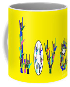 American Sign Language Love Hands Coffee Mug