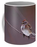 American Tree Sparrow In A Winter Setting Coffee Mug