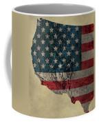 American West Topography Map Coffee Mug