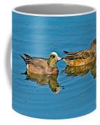 American Wigeon Pair Swimming Coffee Mug