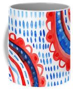 Americana Celebration 3- Painting Coffee Mug by Linda Woods
