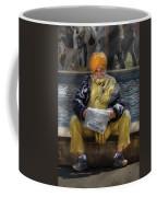 Americana - People - Casually Reading A Newspaper Coffee Mug