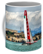 America's Cup And Alcatraz Ll Coffee Mug