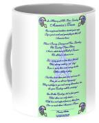 America's Team Poetry Art Poster Coffee Mug by Stanley Mathis