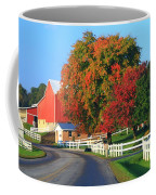 Amish Barn In Autumn Coffee Mug