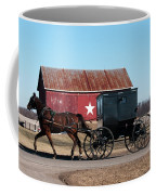 Amish Buggy And Star Barn Coffee Mug