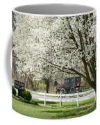 Amish Buggy Fowering Tree Coffee Mug