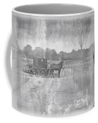 Amish Buggy In Old Book Coffee Mug