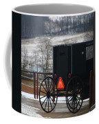 Amish Buggy In Winter Coffee Mug