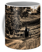 Amish Buggy On A Country Road Coffee Mug