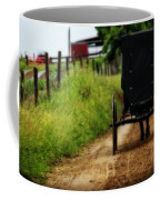 Amish Buggy On Dirt Road Coffee Mug