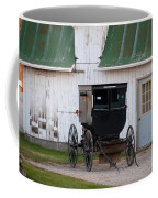 Amish Buggy White Barn Coffee Mug