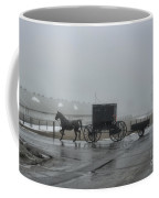 Amish  Buggy Winter Day Coffee Mug