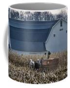 Amish Corn Picking And 1919 Barn Coffee Mug