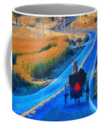 Amish Horse And Buggy In Autumn Coffee Mug