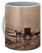 Amish Horse And Buggy With Wagon Bw Coffee Mug