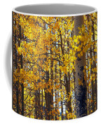 Among The Aspen Trees In Fall Coffee Mug