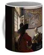 Amorous Couple Coffee Mug by Jan Vermeer