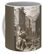 Amphion Builds The Walls Of Thebes Coffee Mug by Bernard Picart