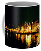 Amsterdam At Night Three Coffee Mug by John Malone