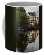 Amsterdam Canal Houses In The Rain Coffee Mug