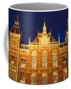 Amsterdam Central Train Station At Night Coffee Mug