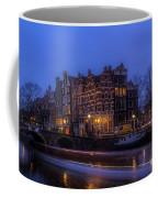Amsterdam Corner Cafe With Light Trails Coffee Mug