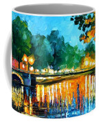 Amsterdam-early Morning - Palette Knife Oil Painting On Canvas By Leonid Afremov Coffee Mug