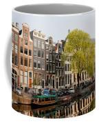 Amsterdam Houses Along The Singel Canal Coffee Mug