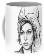 Amy Winehouse Coffee Mug by Olga Shvartsur