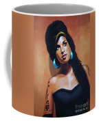 Amy Winehouse Coffee Mug by Paul Meijering