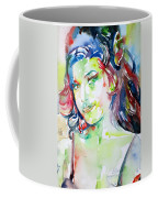 Amy Winehouse Watercolor Portrait.1 Coffee Mug