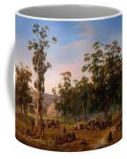 An Aboriginal Encampment Near The Adelaide Foothills Coffee Mug