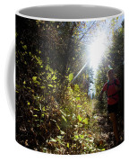 An Adult Woman Trail Running Coffee Mug