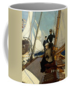 An Afternoon At Sea  Coffee Mug by Albert Lynch