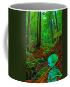 An Alien In A Cosmic Forest Of Time Coffee Mug
