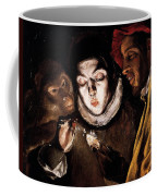 An Allegory With A Boy Lighting A Candle In The Company Of An Ape And A Fool Coffee Mug