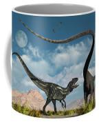 An Allosaurus In A Deadly Battle Coffee Mug