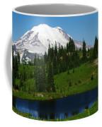 An Alpine Lake Foreground Mt Rainer Coffee Mug