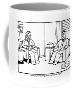 An Analyst Addresses His Patient Coffee Mug by Bruce Eric Kaplan