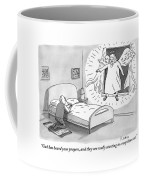An Angel Is Hovering In The Window Of A Man Coffee Mug by Zachary Kanin