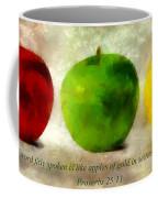 An Apple A Day With Proverbs Coffee Mug