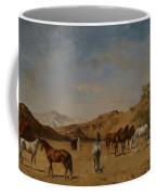 An Arabian Camp Coffee Mug by Eugene Fromentin