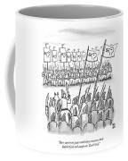 An Army Lines Up For Battle Coffee Mug