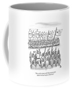 An Army Lines Up For Battle Coffee Mug by Paul Noth
