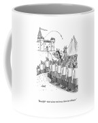 An Army Of Vikings Hold Briefcases Coffee Mug