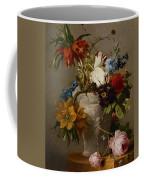 An Arrangement With Flowers Coffee Mug by Georgius Jacobus Johannes van Os
