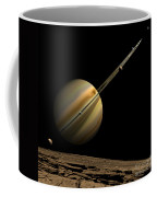 An Artists Depiction Of A Ringed Gas Coffee Mug by Marc Ward